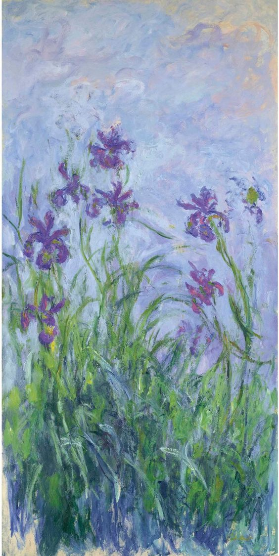 Claude Monet. Pink-purple irises