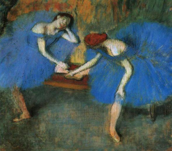 Эдгар Дега. Две танцовщицы в голубом
