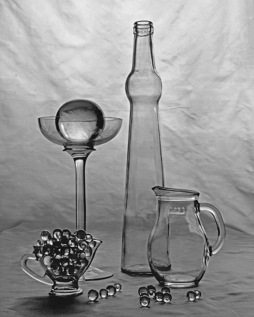Vladimir Nikolaevich Bezgreshnov. Still life with glass number 1