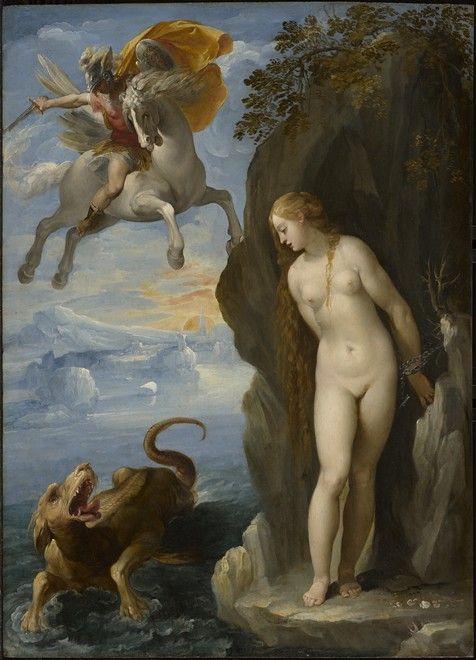 Чезари Джузеппе (Кавалер д'Арпино). Персей спасает Андромеду