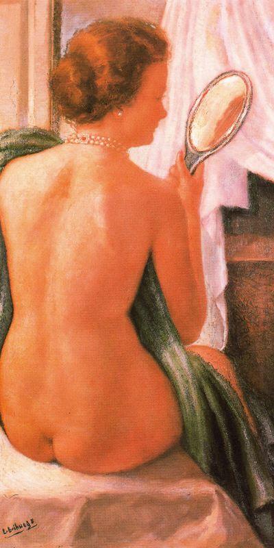 Луис Брихуега. Обнаженная с зеркалом