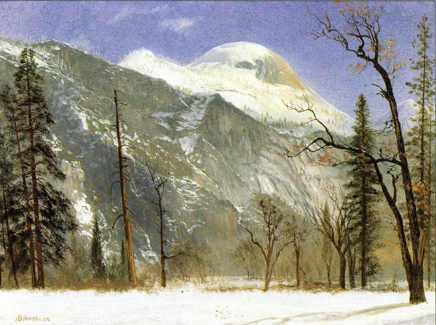 Альберт Бирштадт. Зимний пейзаж в долине Йосемити