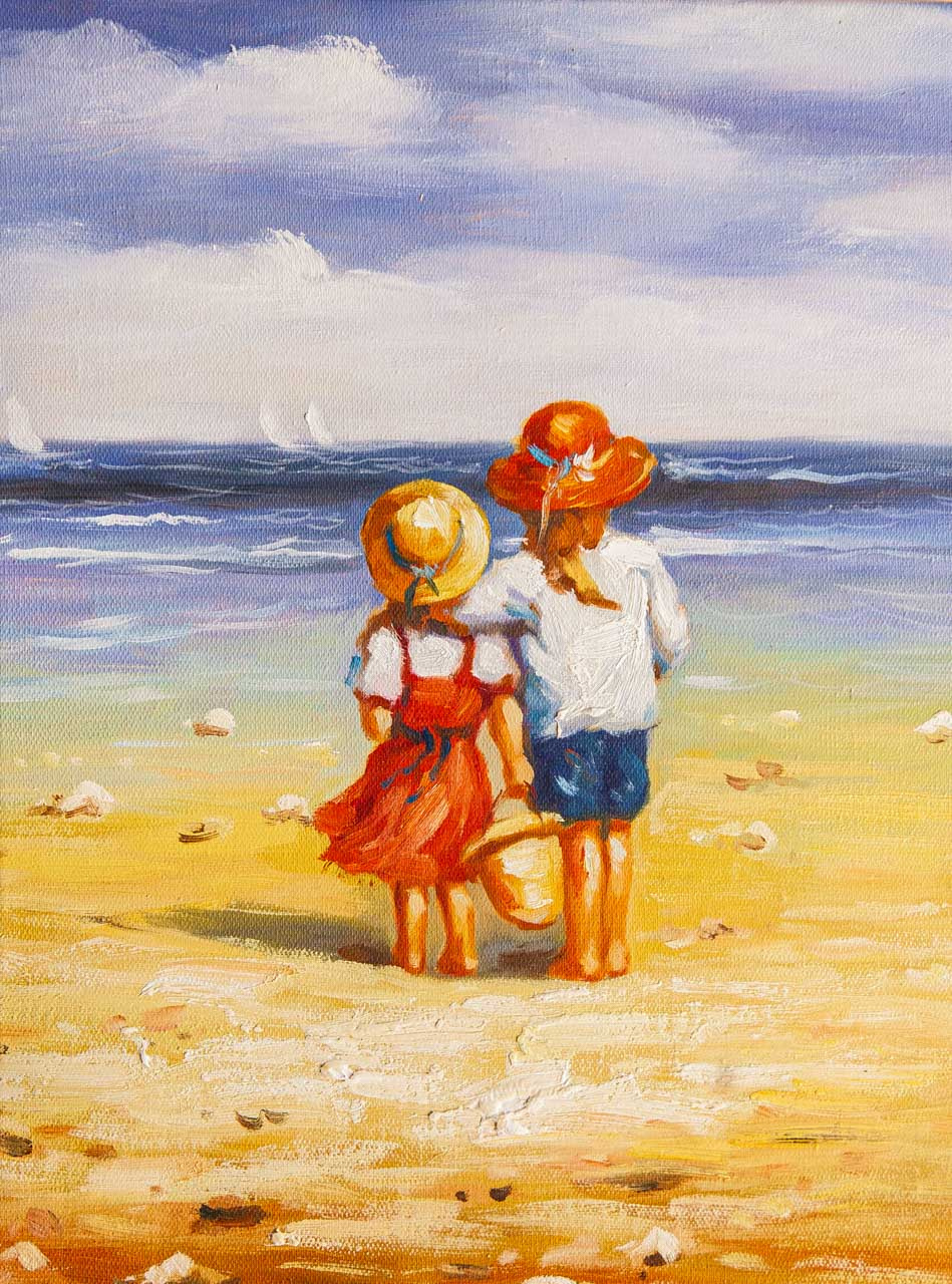 Maria Potapova. Дети на пляже N6