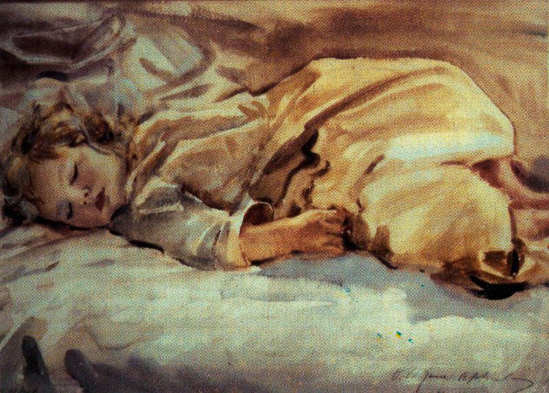 Джордж Оуэн Винн Апперлей. Спящий ребенок