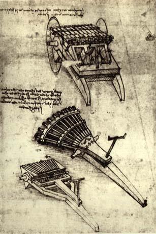 Леонардо да Винчи. Многоствольное оружие