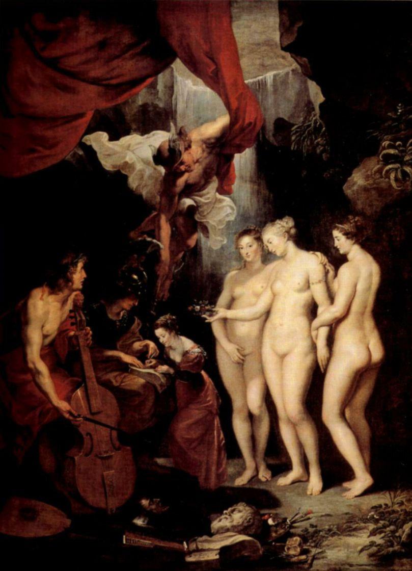Peter Paul Rubens. The Education Of Marie De Medici