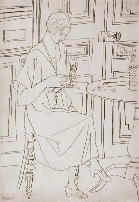 Pablo Picasso. Olga sewing