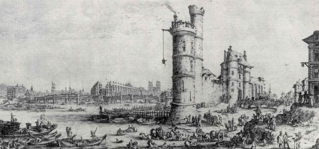 Жак Калло. Париж, вид на Новый мост