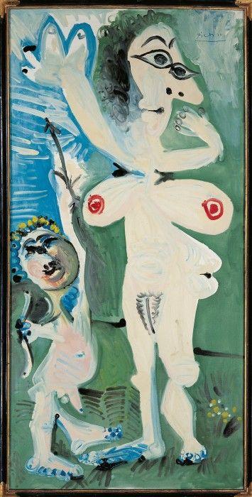 Пабло Пикассо. Венера и Амур