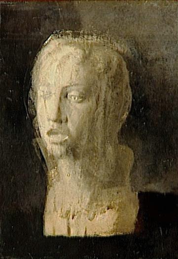 Edgar Degas. A head study of a young singer