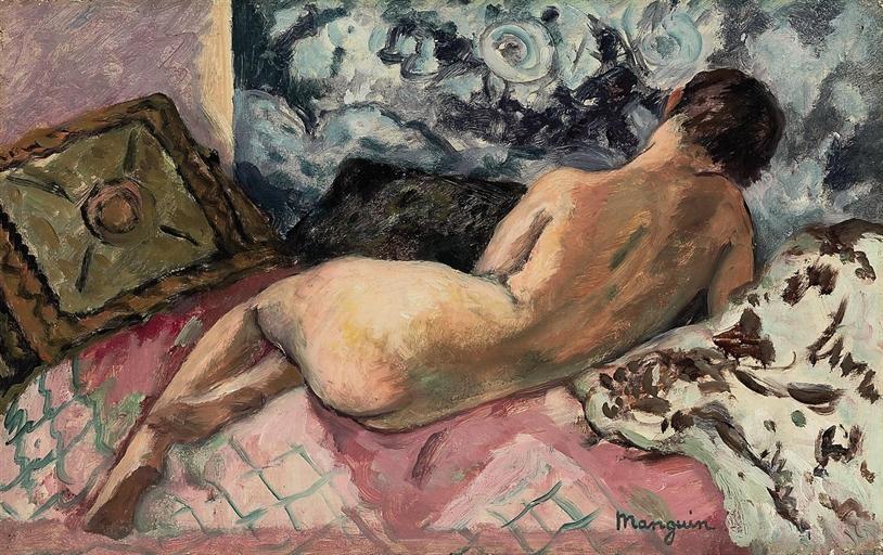 Henri Manguin. Lying obnazhennaya, Odette