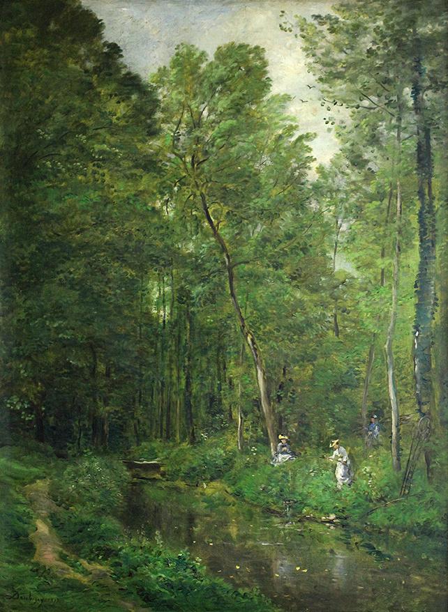 Charles-Francois Daubigny. In the forest Valmondva