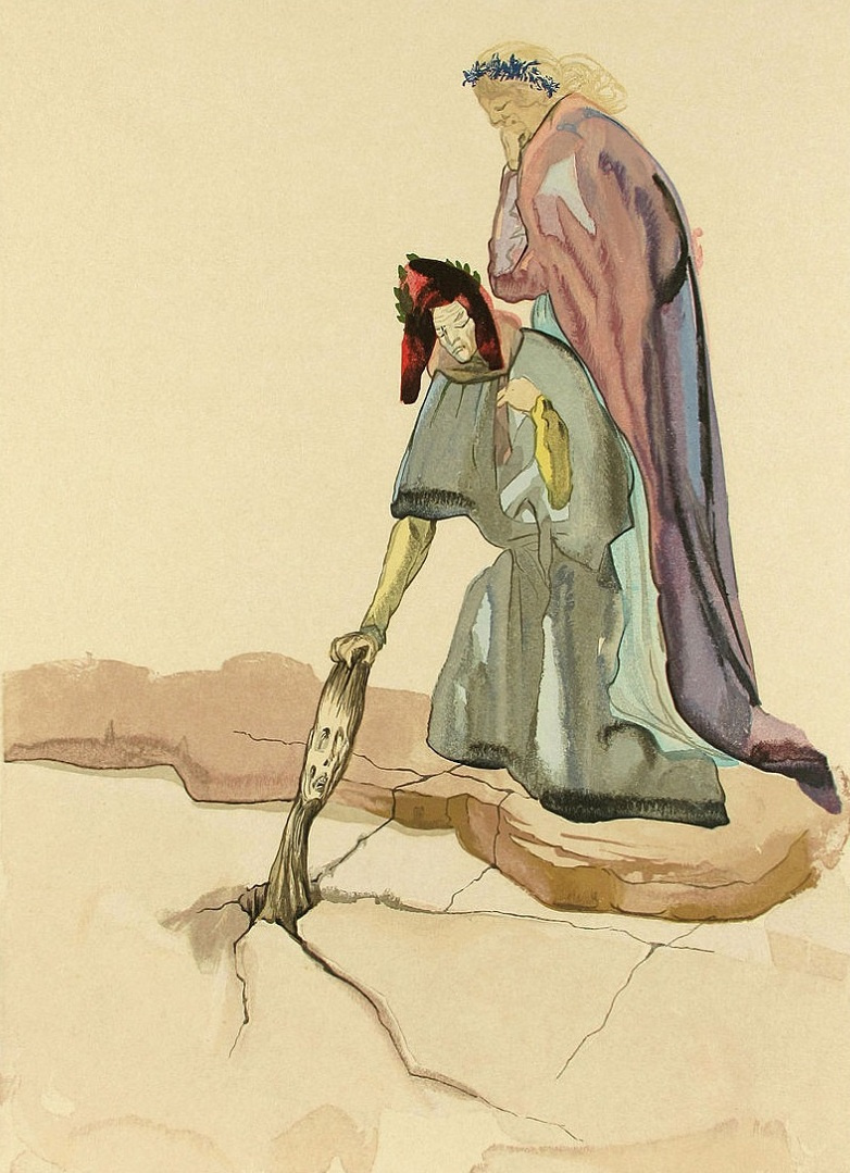 Salvador Dali. Traitors to the home side. Illustrations for the Divine Comedy