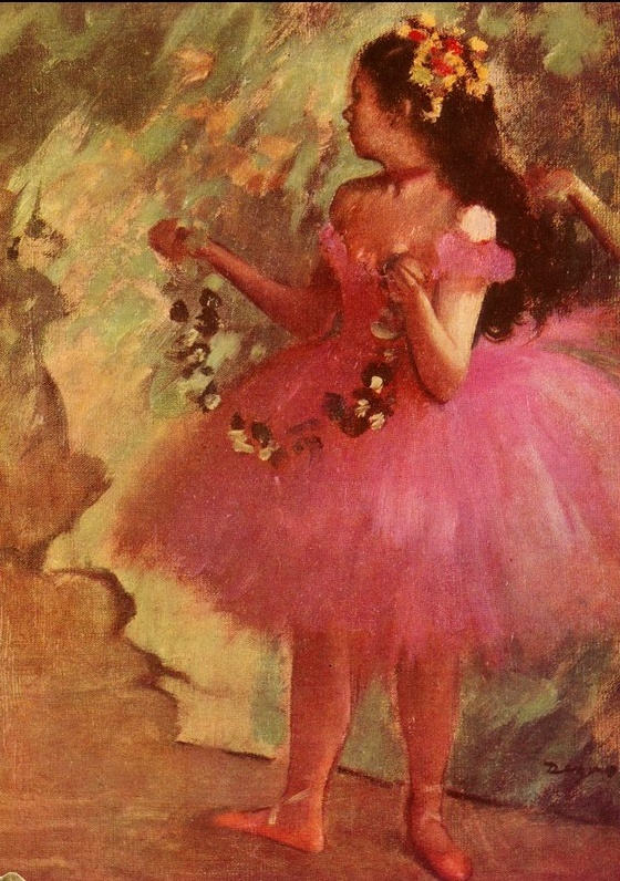 Эдгар Дега. Девочка в розовом платье