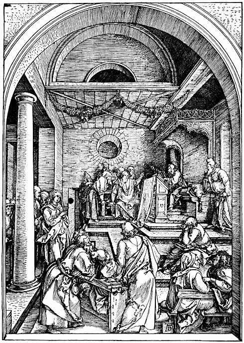 Альбрехт Дюрер. Христос и книжники