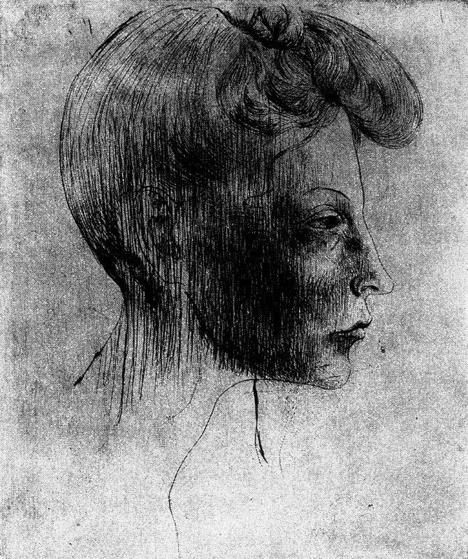 Пабло Пикассо. Женский профиль