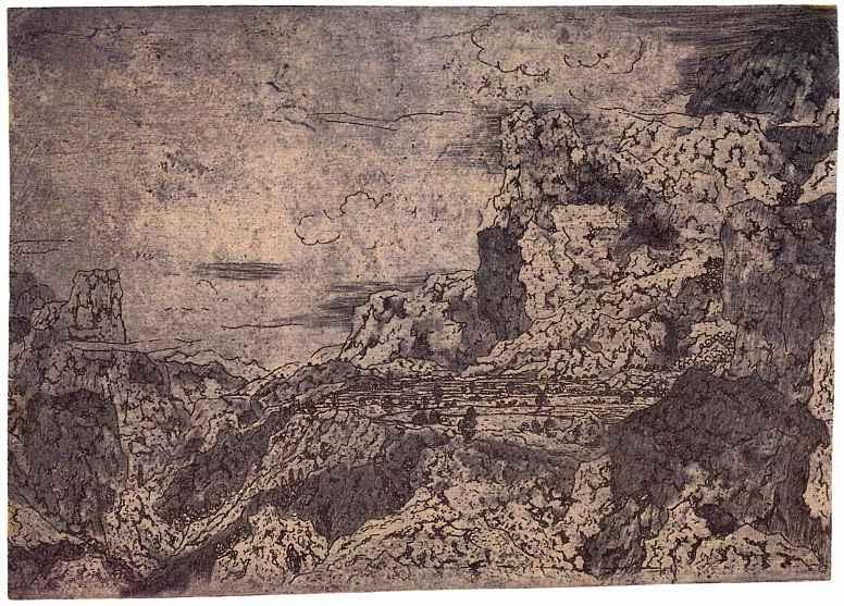 Херкюлес Питерс Сегерс. Скалистый пейзаж с плато