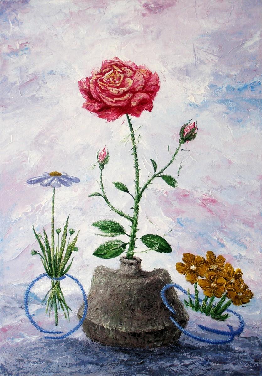 Yuri Vladimirovich Sizonenko. Rose flower