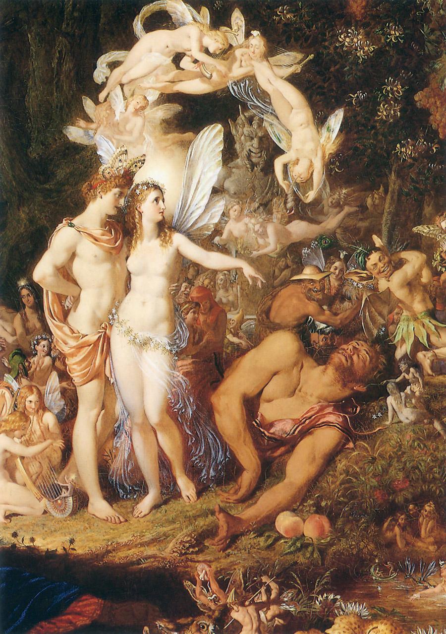 Joseph Noel Paton. The reconciliation of Oberon and Titania (detail)
