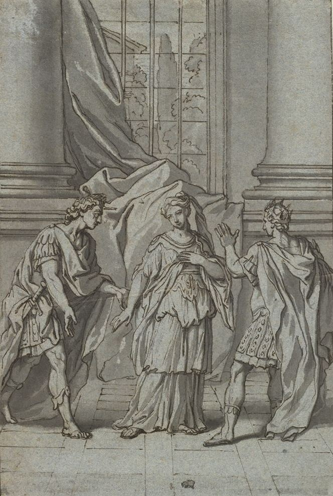 Jacques-Louis David. Berenice, Titus and Antiochus