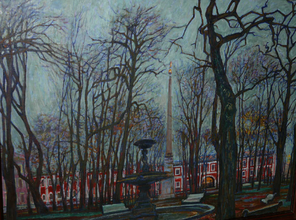 "Valentin Alexandrovich Lisenkov. ""Autumn in Leningrad"""