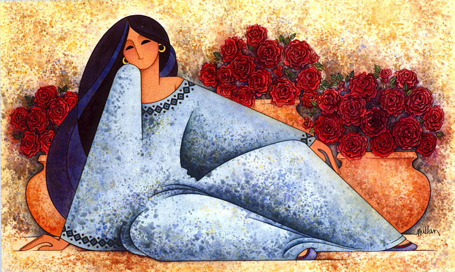 Г Е Муллан. Женщина с розами