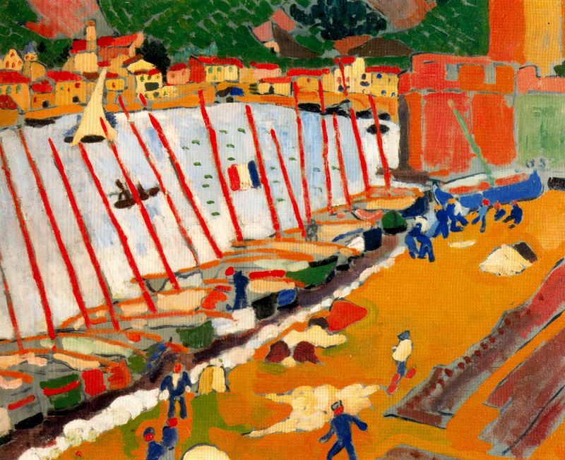 Andre Derain. The port at Collioure
