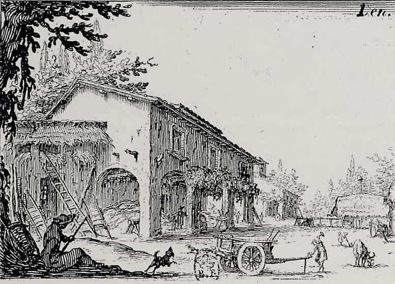 Жак Калло. Итальянская ферма