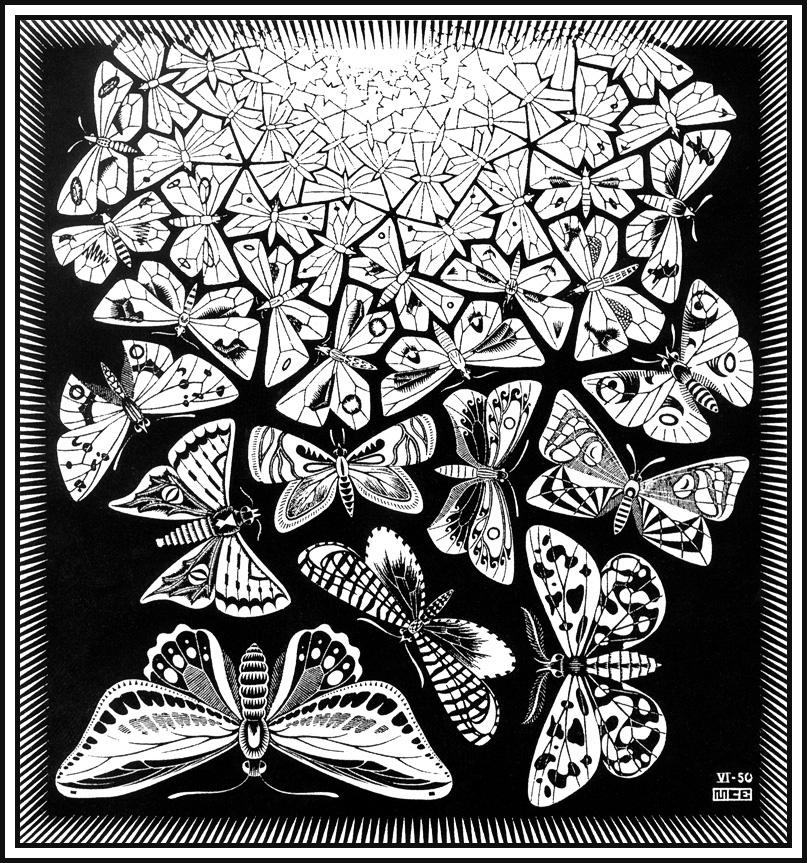 Мауриц Корнелис Эшер. Бабочки3