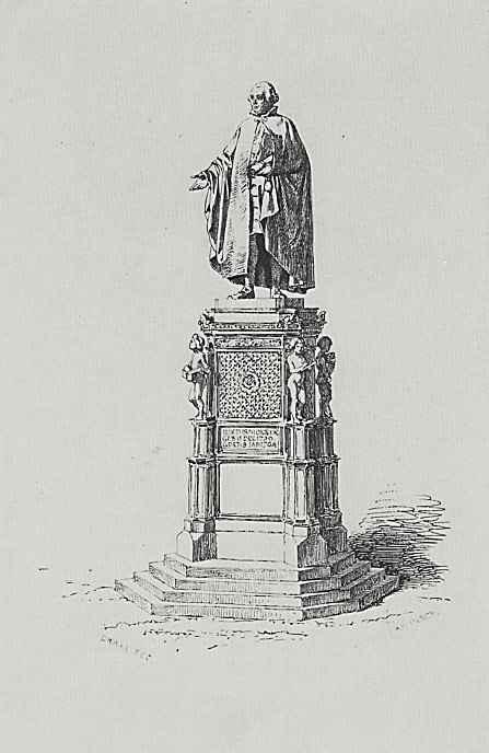 Адольф фон Менцель. Памятник Юстусу Мёзеру работы скульптора Ф.Драке в Оснабрюке