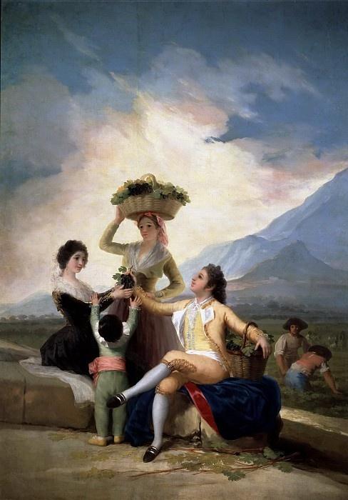 Франсиско Гойя. Сбор винограда или осень
