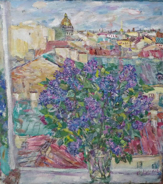 Yuri Konstantinovich Kulikov. White Night. Lilac