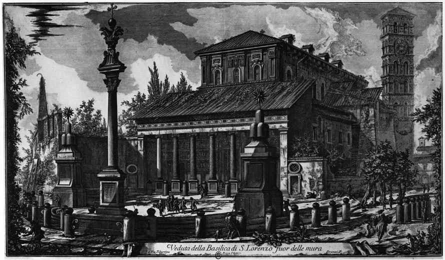 Джованни Баттиста Пиранези. Вид базилики Сан Лоренцо