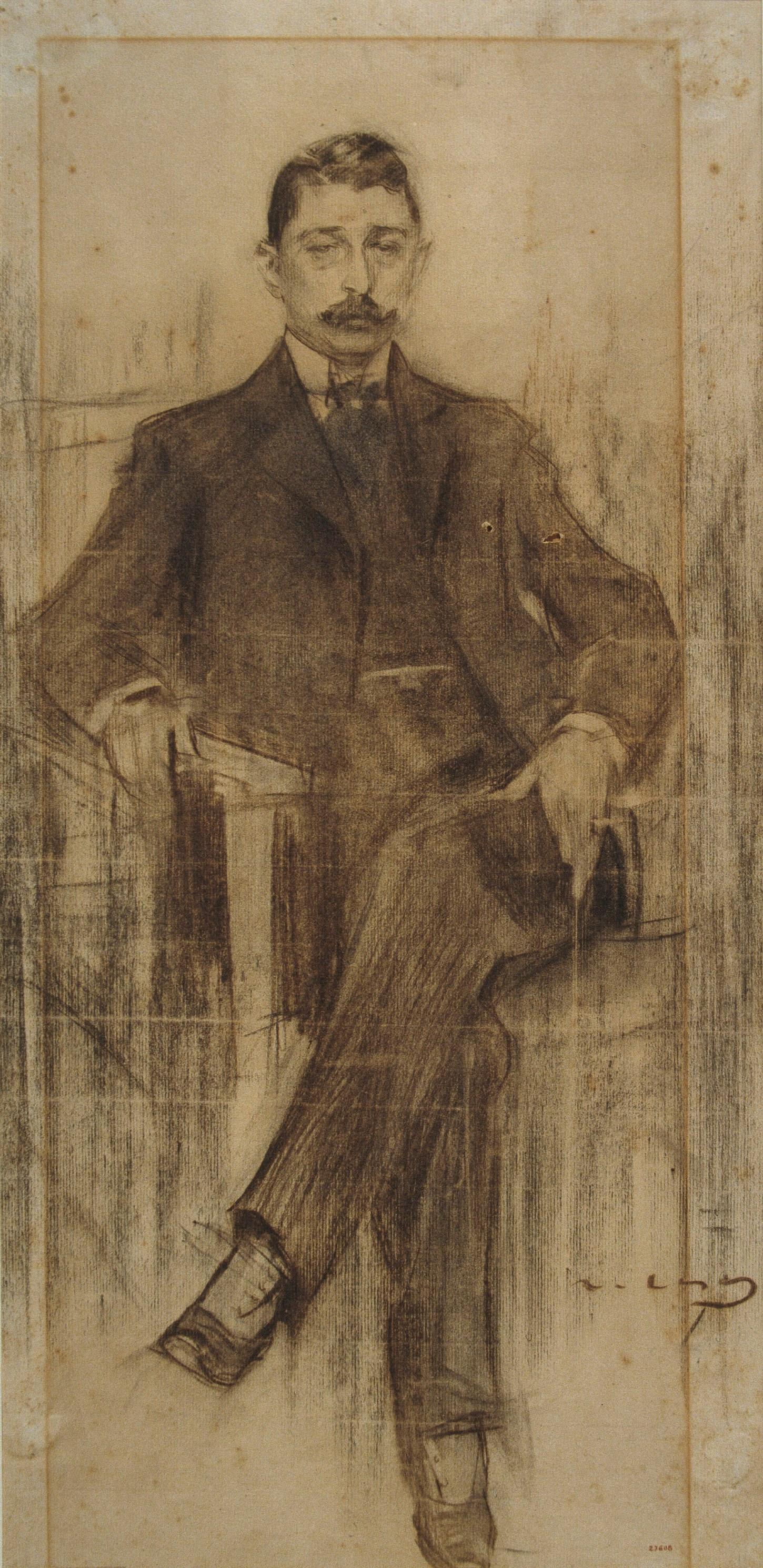 Ramon Casas i Carbó. Portrait of Albert Rusinola