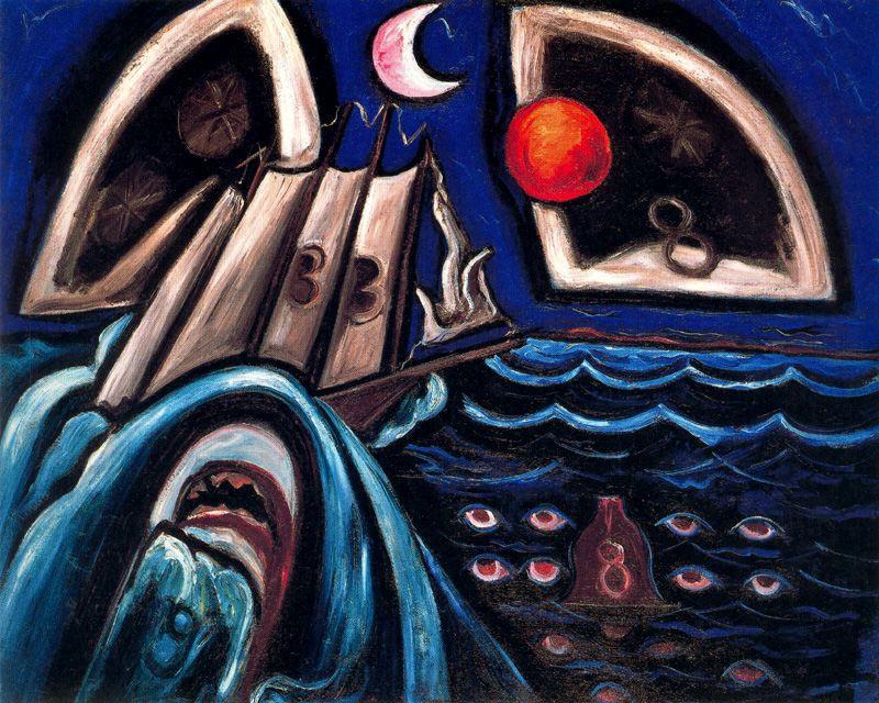 Marsden Hartley. The moon