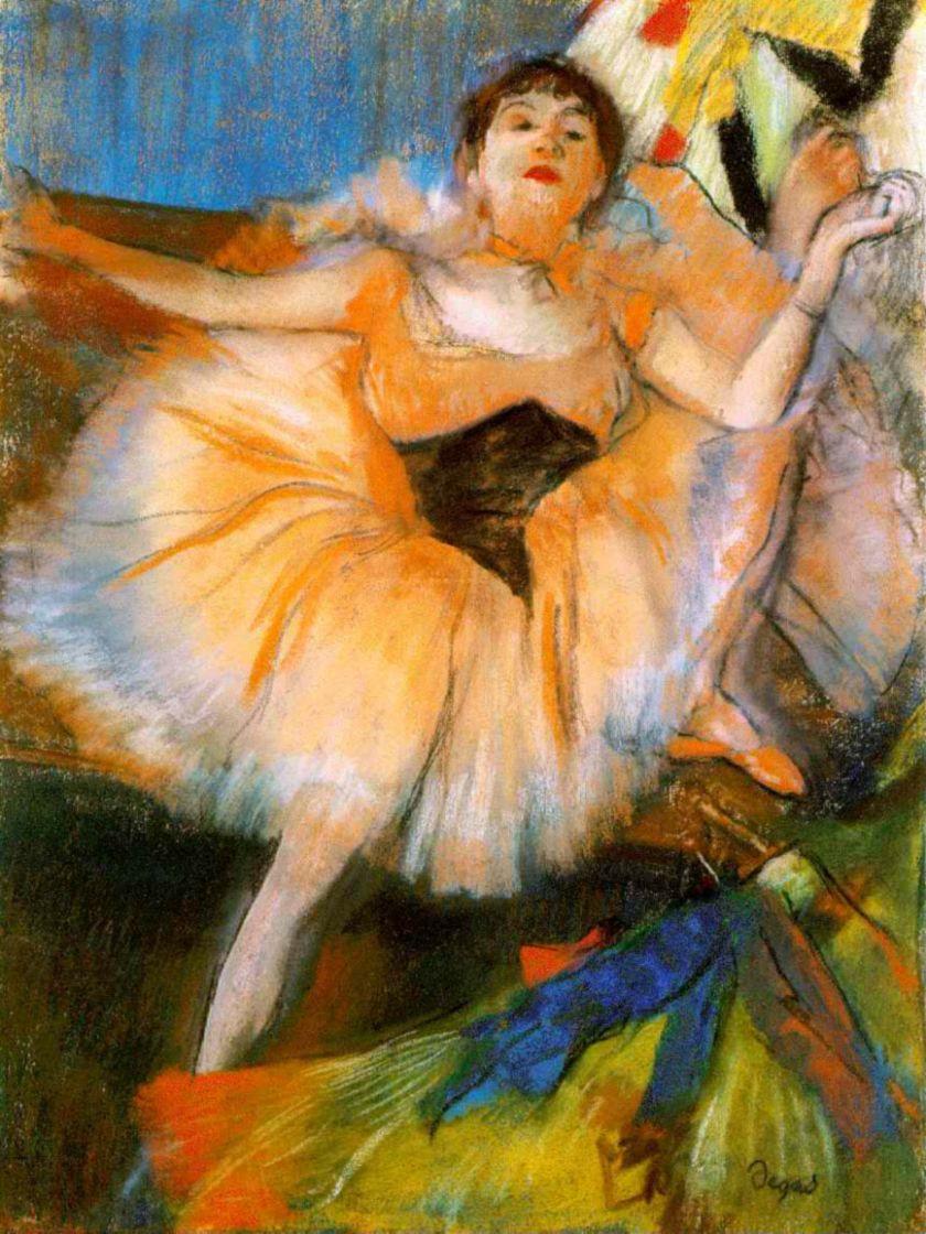 Edgar Degas. Sitting ballerina