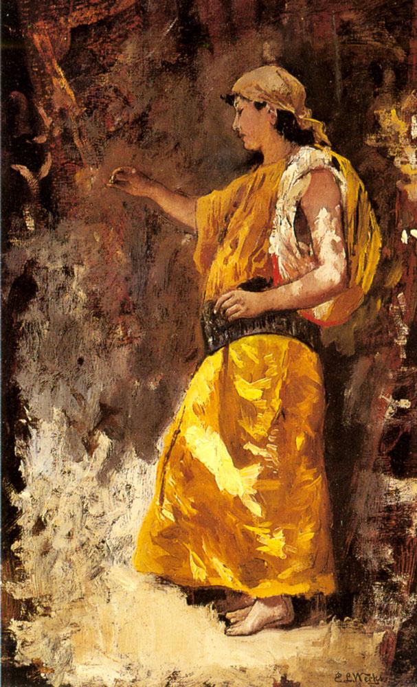 Edwin Lord Weeks. Standing Arab woman
