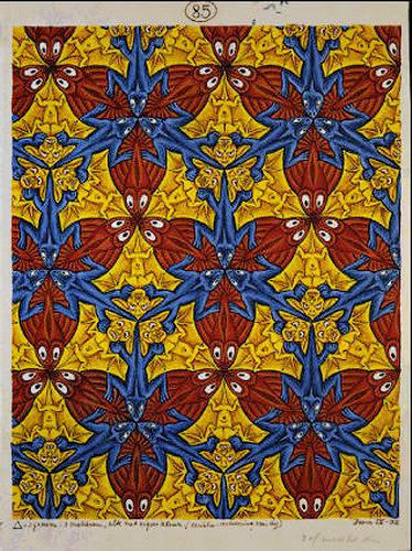 Maurits Cornelis Escher. Lizards, fish, bats (№85)
