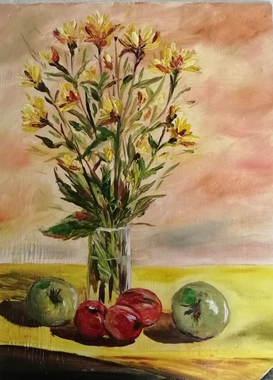Elena Ivanovna Vydrina. My flowers