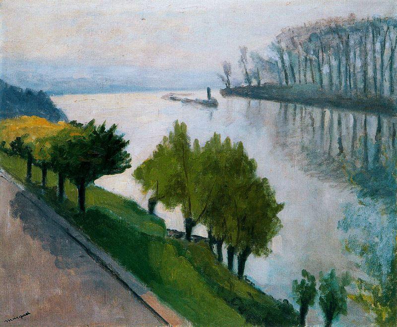Pierre-Albert Marche. Green trees