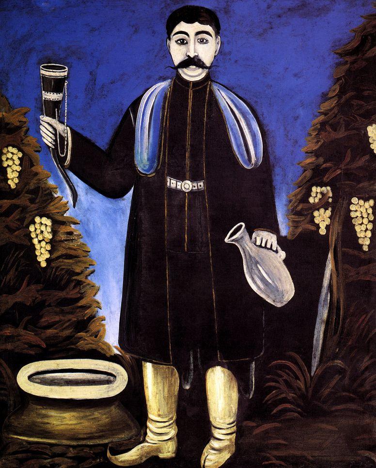 Нико Пиросмани (Пиросманашвили). Князь с рогом вина