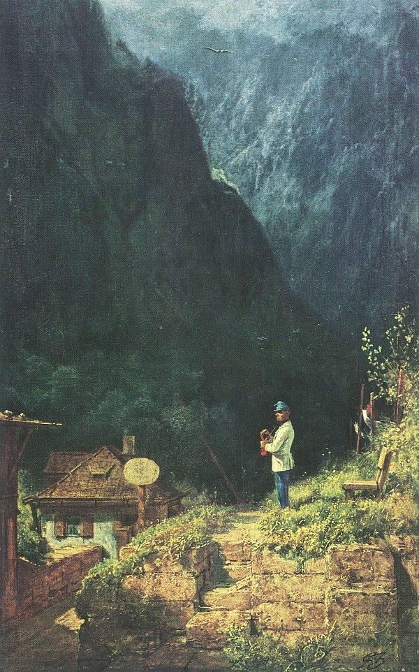 Karl Spitzweg. Customs in Tyrol