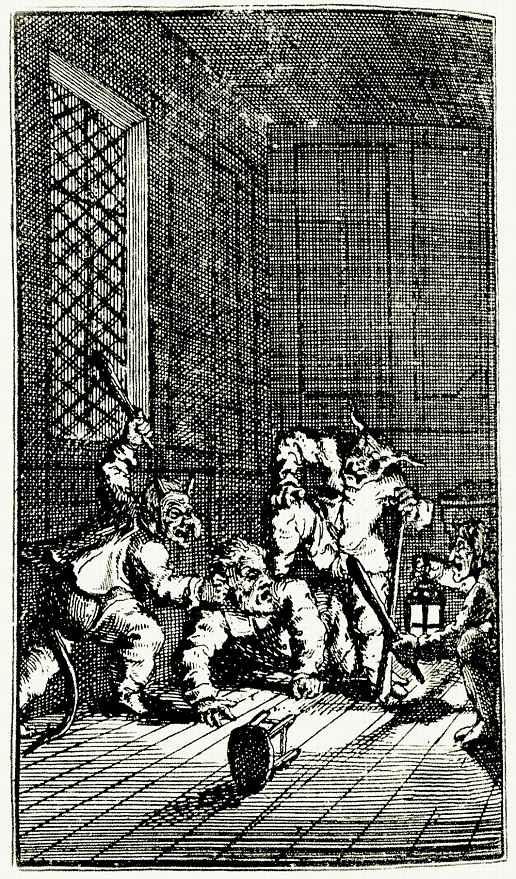 Уильям Хогарт. Злые духи учат Гудибраса катехизису