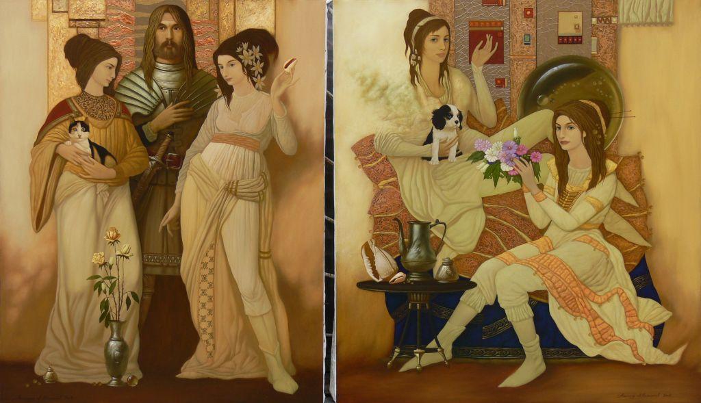 Александр Мельников. Грёзы. 2008  диптих