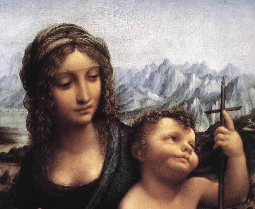 Leonardo da Vinci. The Madonna of the yarnwinder (detail)