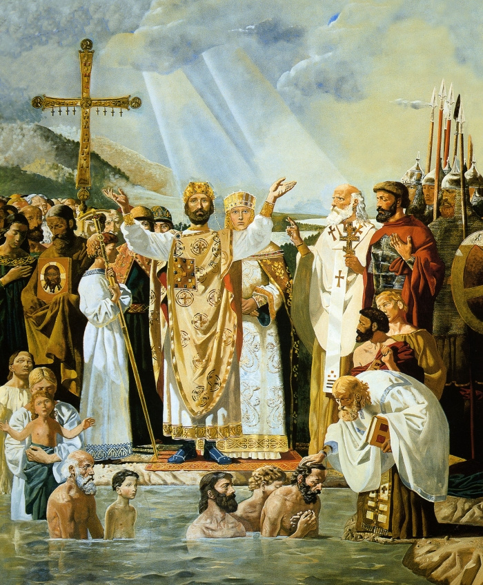 Victor Mikhailovich Vasnetsov. The Baptism Of Rus. The preparatory composition of the painting of the Vladimir Cathedral in Kiev