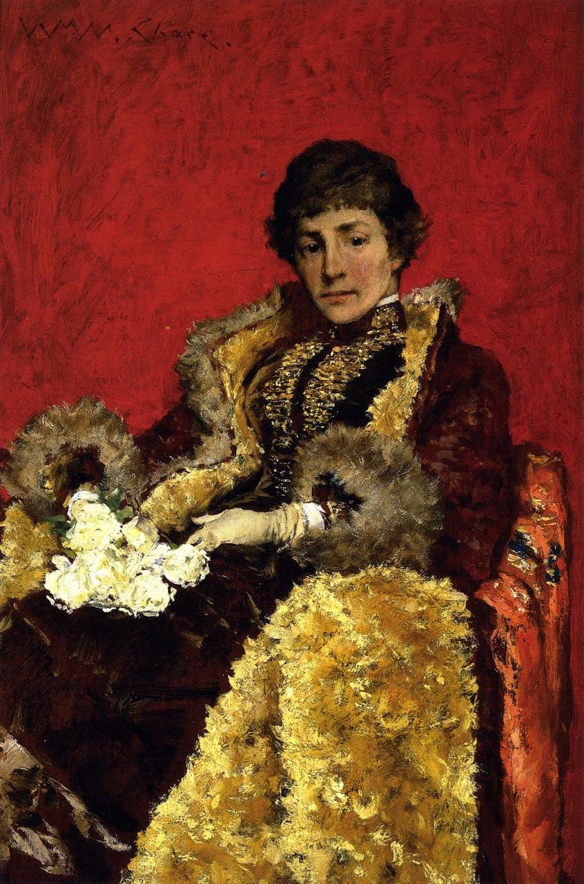 William Merritt Chase. Portrait of Mrs Howell