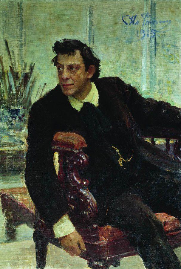 Илья Ефимович Репин. Портрет артиста П. В. Самойлова