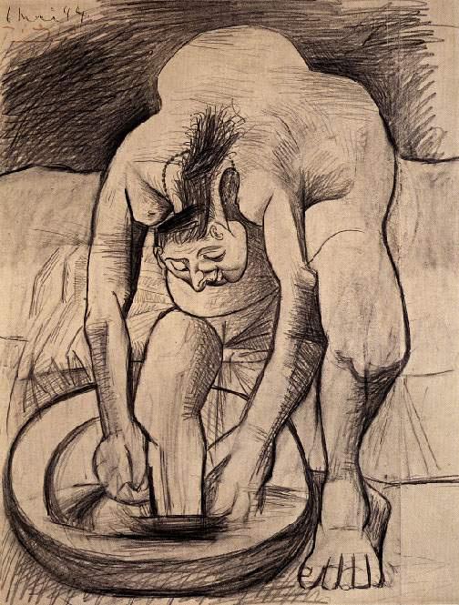 Пабло Пикассо. Женщина моет ногу