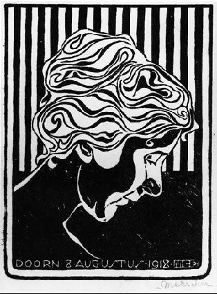 Мауриц Корнелис Эшер. Женщина с опущенной головой